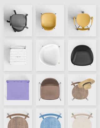 创意美学家具椅子PSD素材