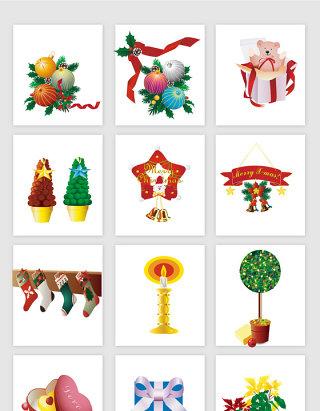 圣诞节装饰的各种素材