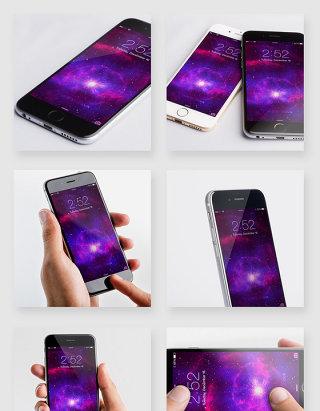 iphone手机桌面场景贴图样机模板