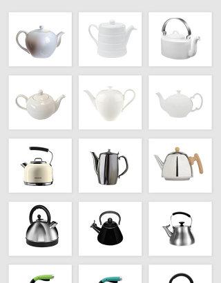 高清免抠时尚水壶茶壶png素材