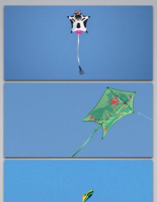 风筝蓝天飞舞飞扬背景图