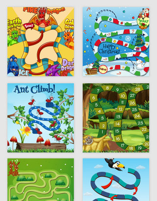 卡通儿童的游戏娱乐矢量素材