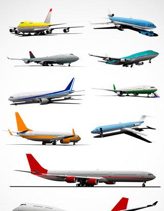 飞机模型矢量图形图标