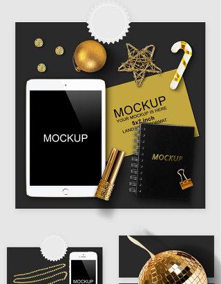 iPad手机记事本卡片智能贴图样机素材
