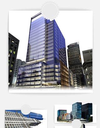 建筑城市大楼元素