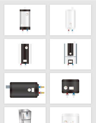 卡通净水器家电电器矢量图形