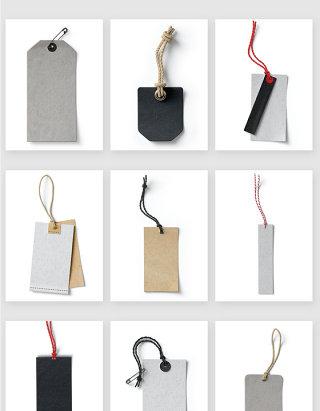 服装吊牌设计智能贴图样机素材