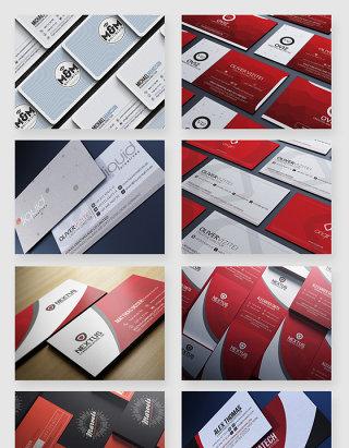 商务名片排版设计PSD素材