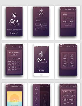 手机页面图案图标矢量元素