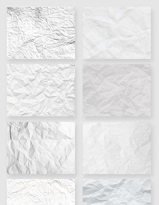 白色褶皱纸张纸质纹理矢量素材