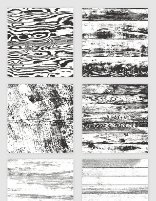 矢量黑色木板纹理木纹剪影
