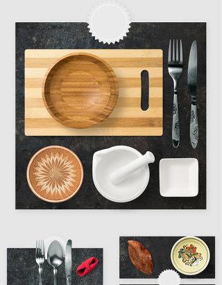 厨房餐具刀叉用品高清PSD素材