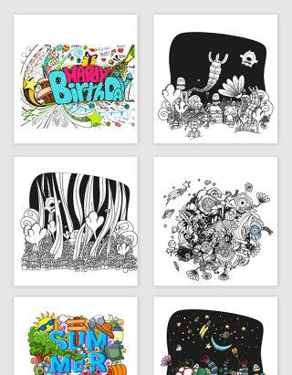 卡通涂鸦风格设计元素