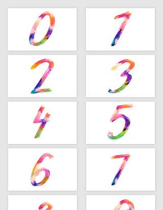 水墨水彩创意数字