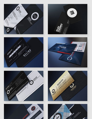 大气商务企业名片设计排版PSD素材