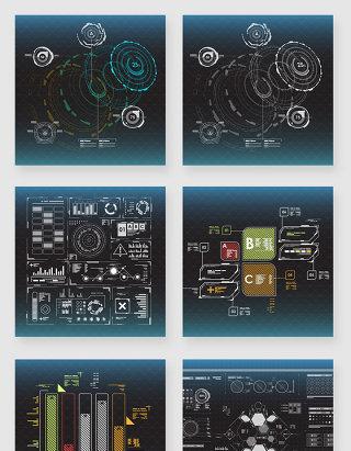 互联网电子科技大屏数据可视化素材
