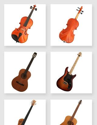 大提琴吉他流行乐器PNG素材