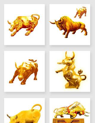 不规则图形金牛设计素材