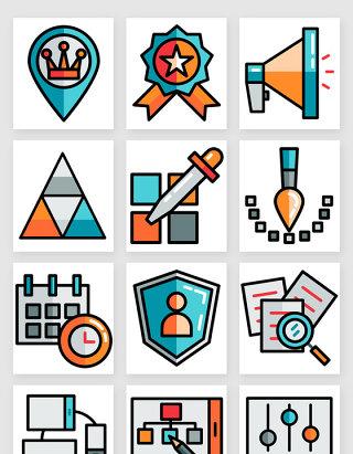 商务办公网页设计图标矢量素材3