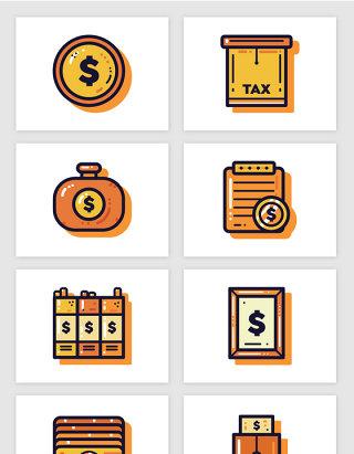 U顿钱袋银行卡金融插画矢量图形