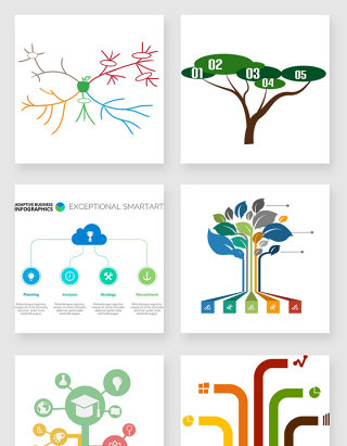 不规则图形树状图素材合集