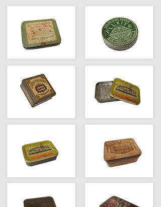 高清免抠复古怀旧铁盒png素材