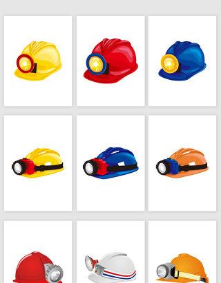 矢量高清工人安全帽头盔