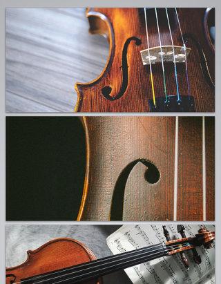 音乐小提琴乐谱琴弦