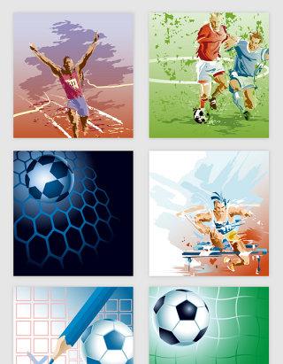 体育运动人物足球矢量素材