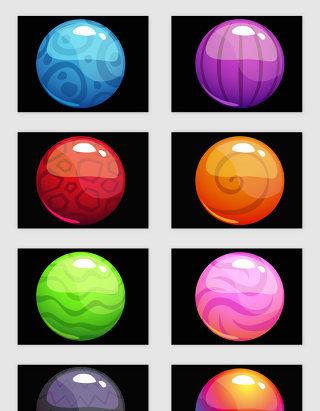 立体渐变球体矢量素材