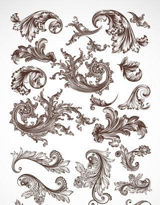 复古欧式花边素材