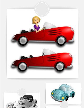 卡通汽车素材PNG