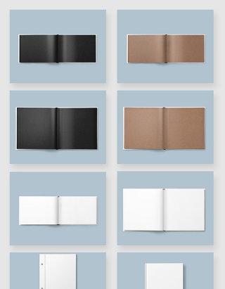 书籍画册产品设计空白模板样机素材