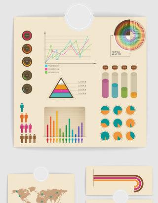 12款矢量PPT数据统计图表2