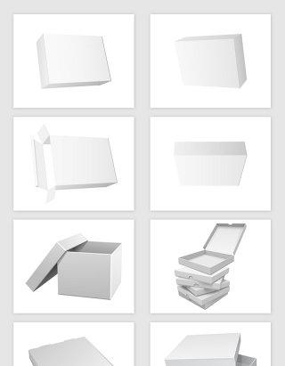 矢量纸盒包装样机