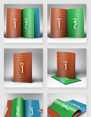 画册书籍周刊杂志印刷设计样机素材