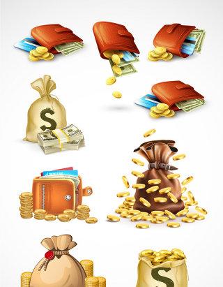 商务金融理财元素矢量素材