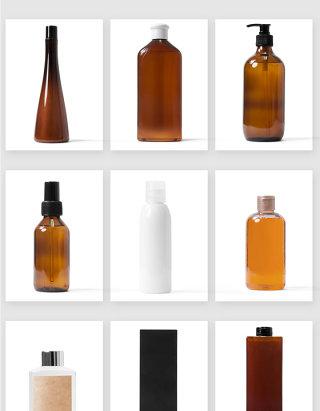 美容护肤化妆品瓶子包装设计样机psd素材