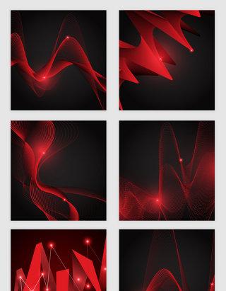 喜庆红色彩带的点光矢量素材