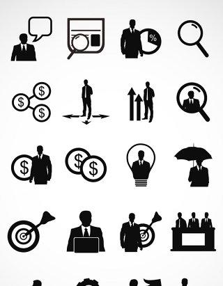 金融商业矢量图形图标