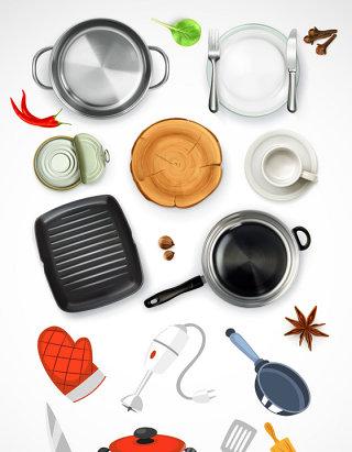 厨房用品矢量素材