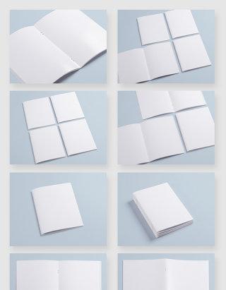 空白画册书籍设计模版样机素材