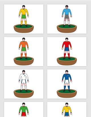 插画足球运动员模型人物矢量图形