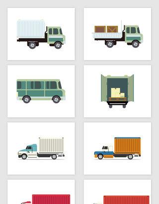 矢量货车集装箱卡车