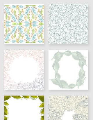 手绘植物叶片纹理装饰素材