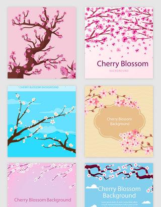 桃花花瓣花朵春天矢量素材