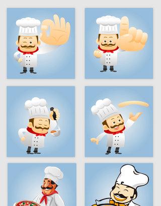 创意的手绘卡通厨师素材