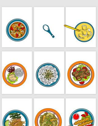 卡通早餐食物素材