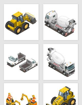 各种工程机器素材