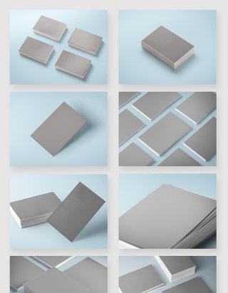 名片设计智能贴图空白模板样机素材